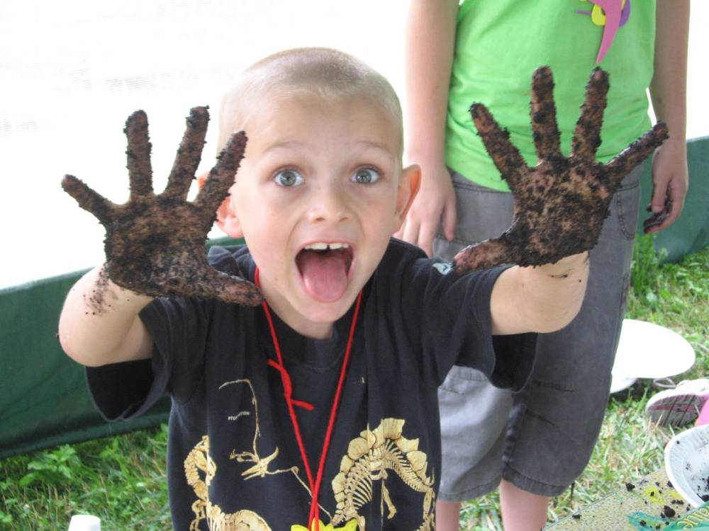 Getting Down and Dirty at Dinosaur Adventure Camp at the Akron Fossils & Science Center in Copley, Ohio